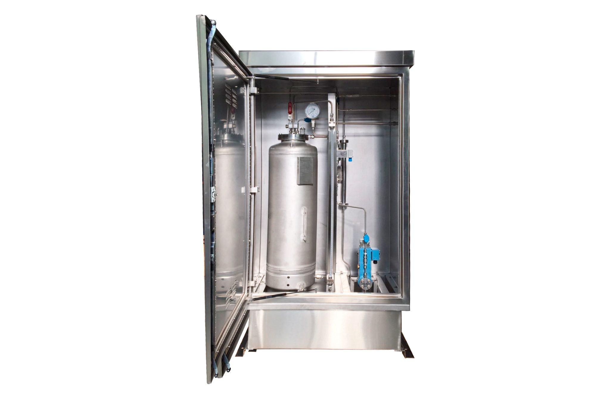 Sistema de odorización con armario