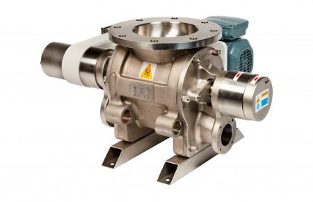 Válvula rotativa de paso a través modular limpiable BSMC