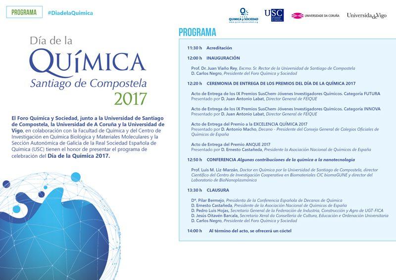 Santiago de Compostela acogerá el Día de la Química 2017