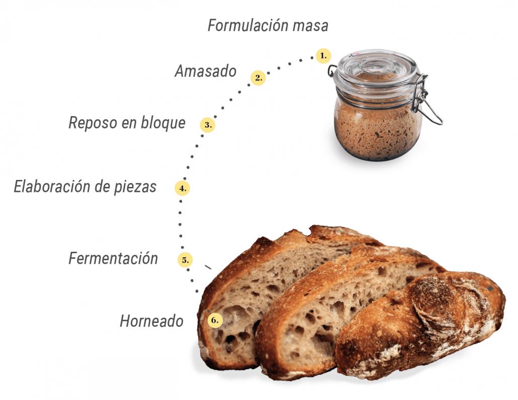 El secreto del pan elaborado a partir de masa madre de cultivo