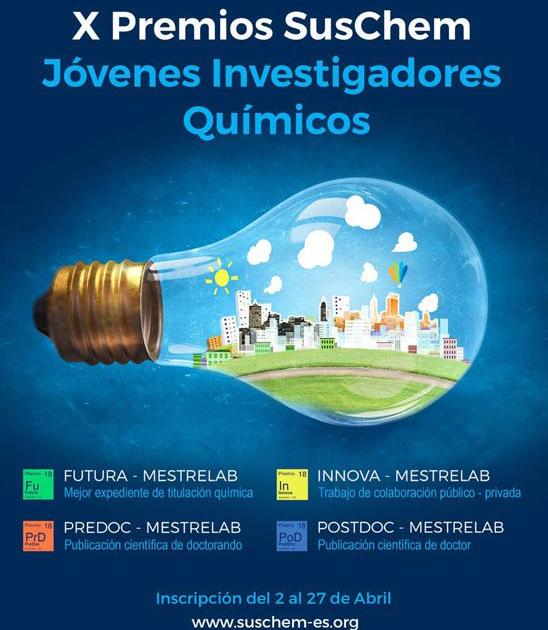 X Edición de sus Premios Jóvenes Investigadores Químicos