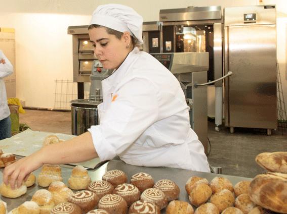 Mujeres y panaderas