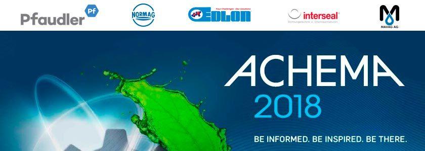 Pfaudler presentará 8 líneas de producto en ACHEMA 2018