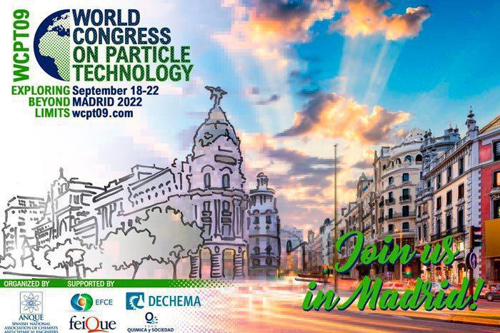 Madrid acogerá el Congreso Mundial de Tecnología de Partículas 2022