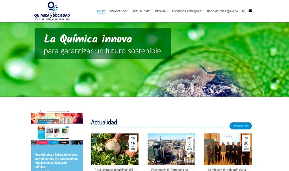 Foro Química y Sociedad renueva su web corporativa