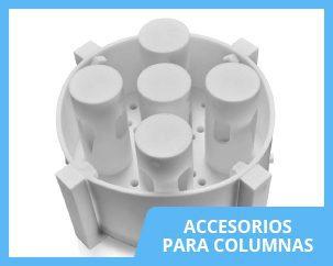 Accesorios en fluoropolímeros para columnas