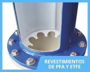 Revestimientos en PFA y ETFE adheridos al acero